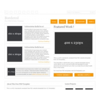 Bordered Free PSD Website Template