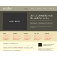 Variation Free PSD Website Template