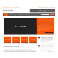 Education Free PSD Website Template