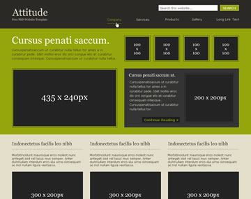 Attitude Free PSD Website Template