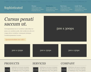 Sophisticated Free PSD Website Template