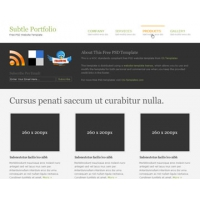 Subtle Portfolio Free PSD Website Template