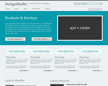 DesignStudio Free PSD Website Template