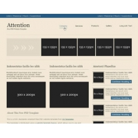 Attention Free PSD Website Template