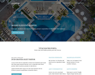 Glozzom Free Website Template