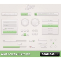 White Clean UI Kit Free