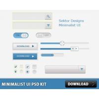 Minimalist UI PSD