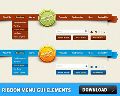 Ribbon Menu GUI Elements