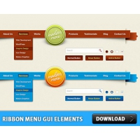 Ribbon Menu GUI Elements