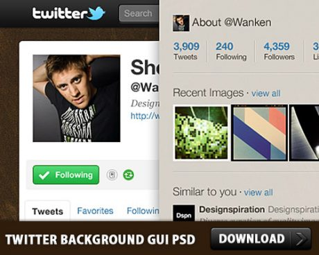 Twitter Background GUI Photoshop