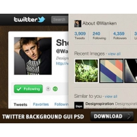 Twitter Background GUI Photoshop