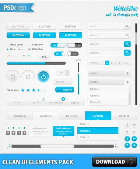 Clean UI Element Pack