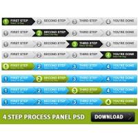 4 Step Process Panel Free