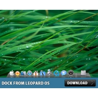 Glass Shelf Dock from Leopard OS in Photoshop