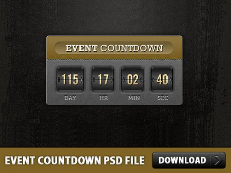 Event Countdown Free PSD