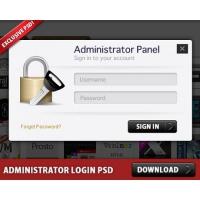 Free Administrator Login Panel PSD