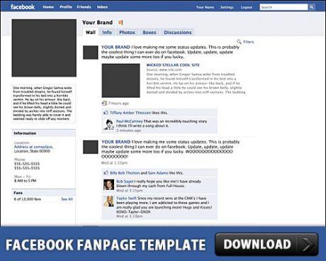 Facebook Fanpage Free PSD