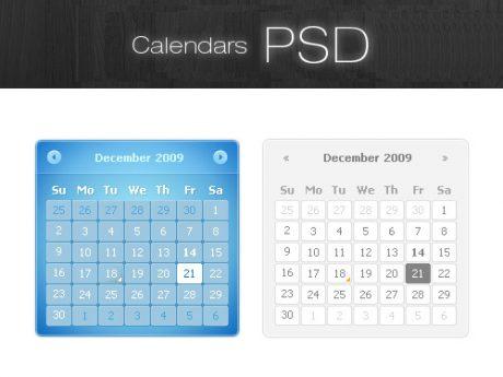 Calendars PSD Resource