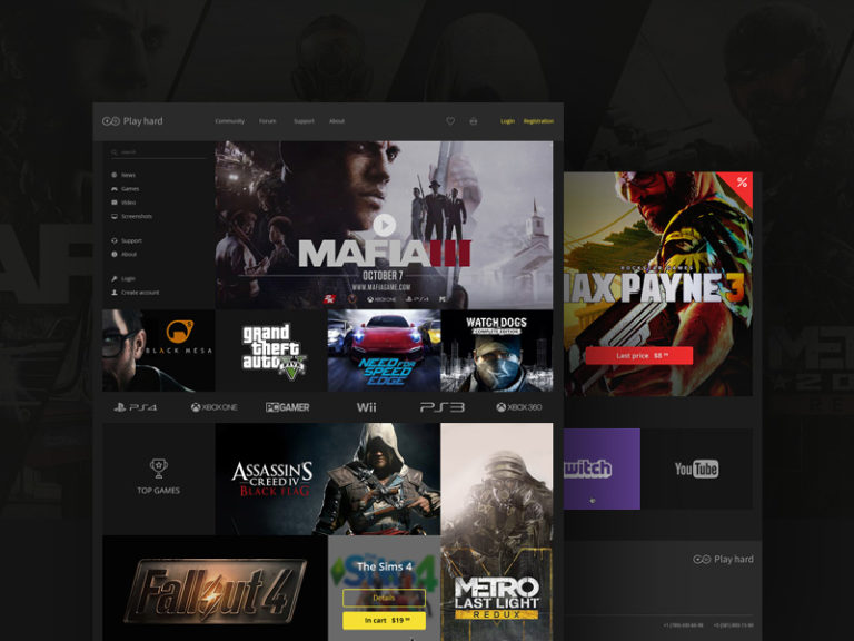 Gaming eCommerce Website Template Free