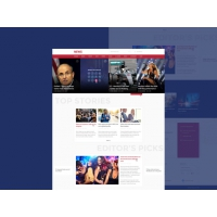 News and Magazine Style Website Template