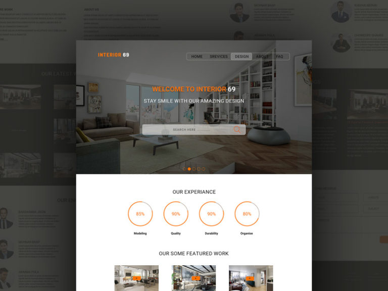 One Page Interior Design Website Template