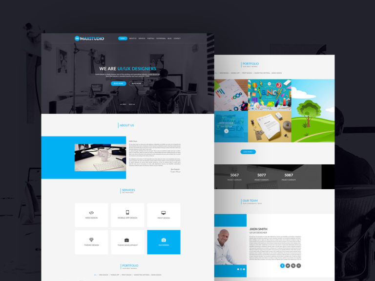 Clean and Minimal Personal Portfolio Template