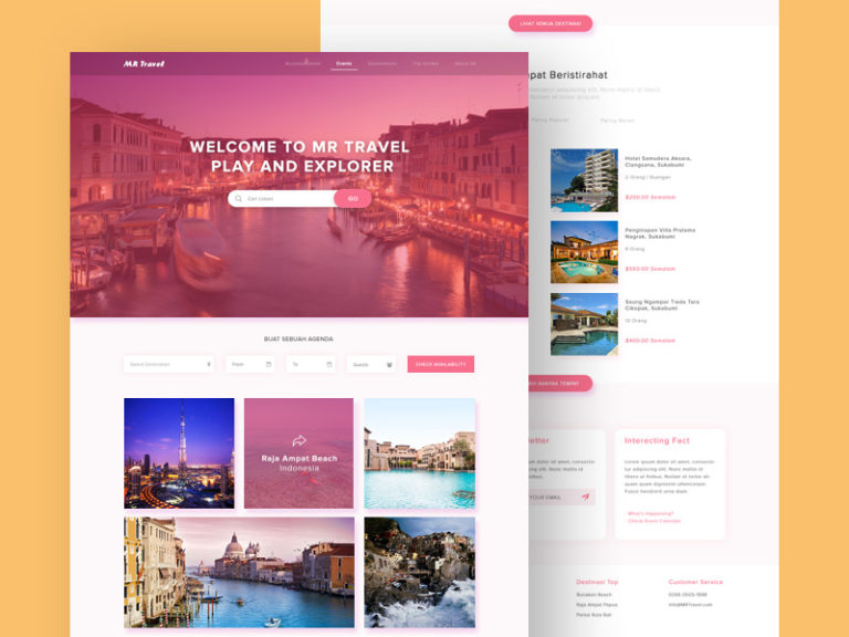 Clean Travel Website Template