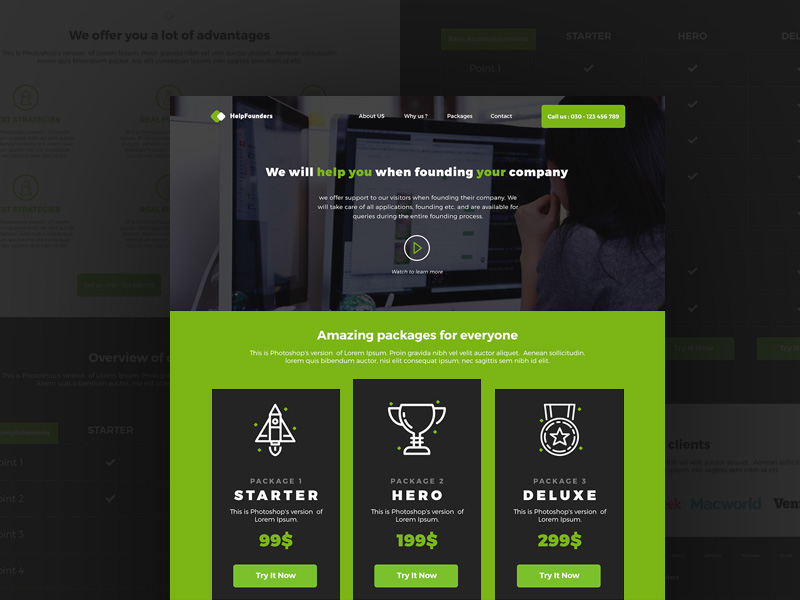 Startup Company Landing Page Template