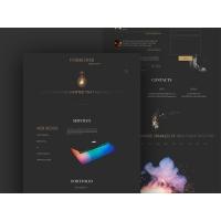 Dark Minimalistic Web Template