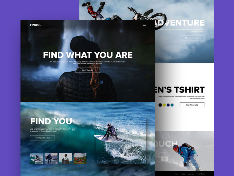 Adventure and Sports Website Template