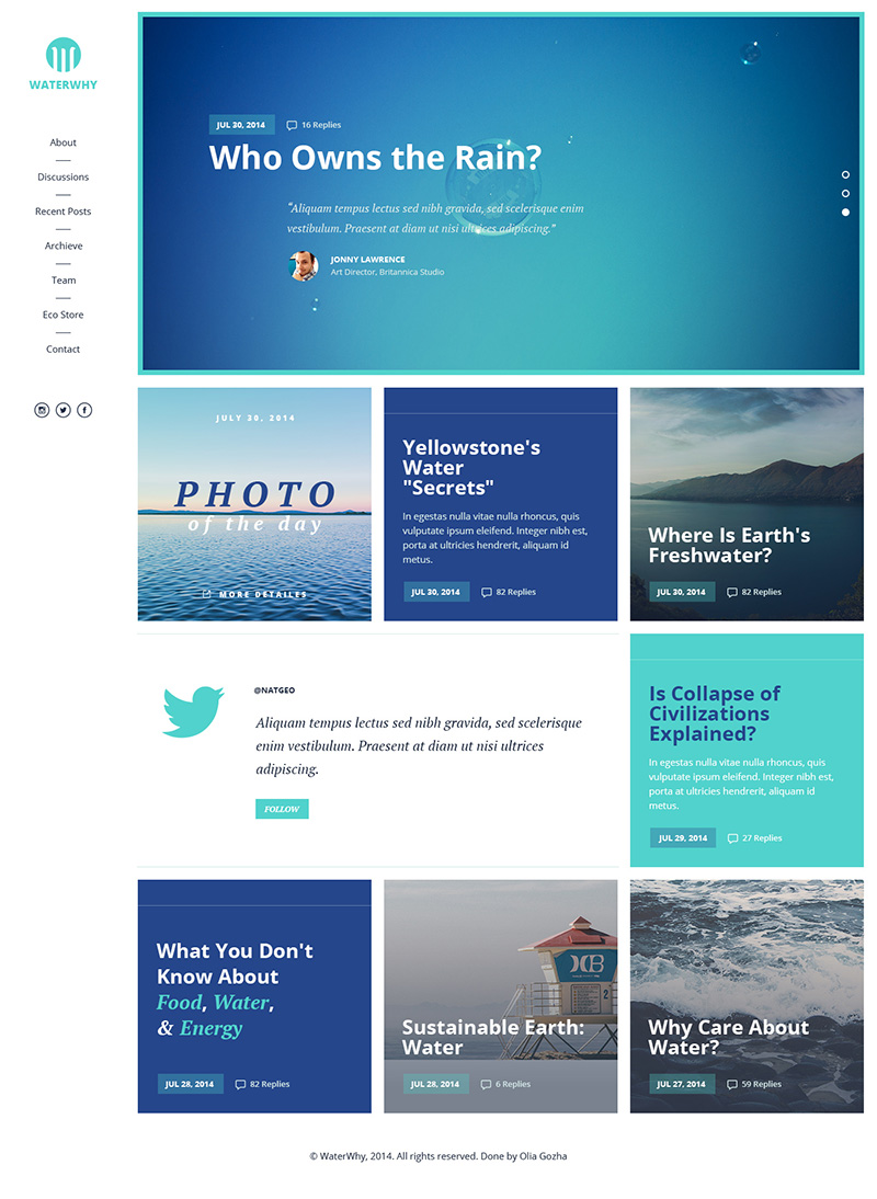 Environmental NGO website template Free