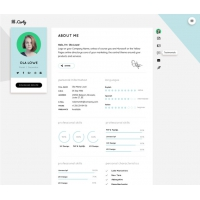 Resume CV Website Theme Template Free