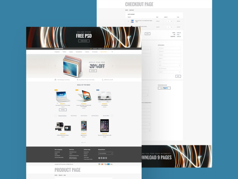 eStore eCommerce Website Template Free
