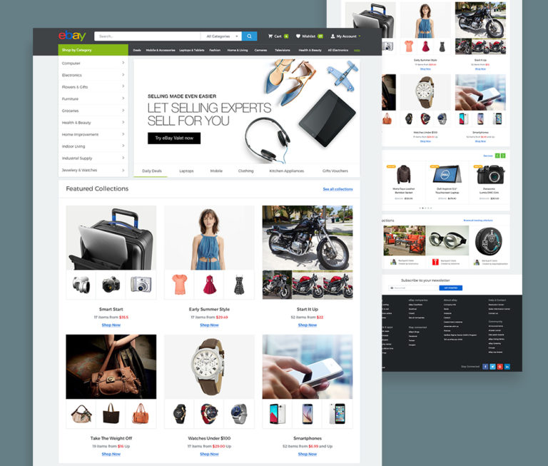 eBay Website Template Free
