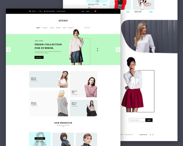 Modern Fashion Store Website Template