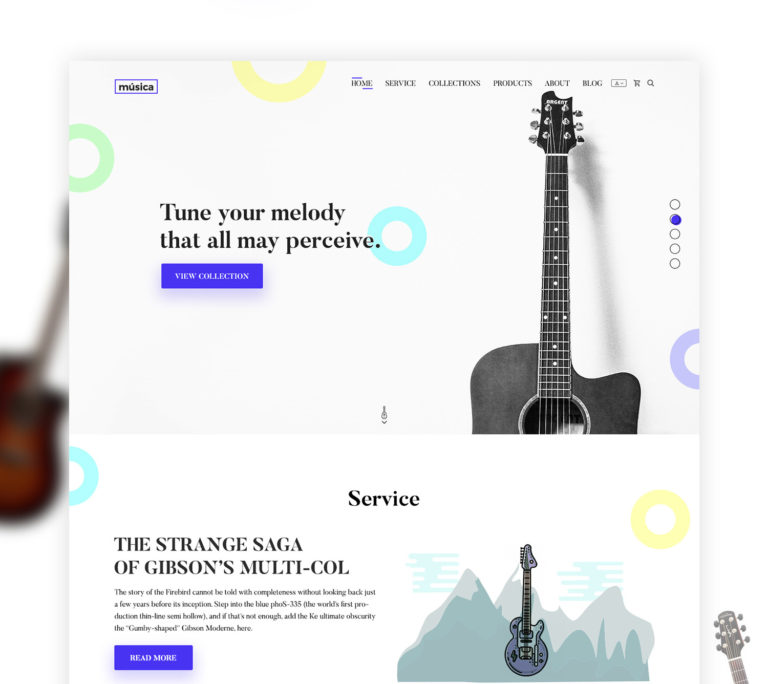 Music Shop Website Template Free