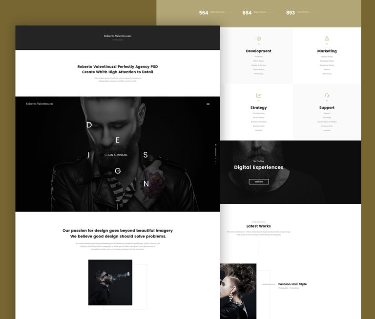 Portfolio Template PSD for Creative Agencies