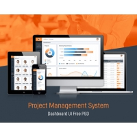 Project Management System Dashboard GUI Free