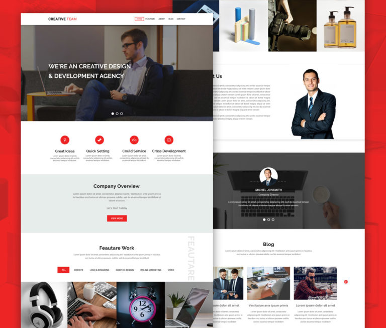 Creative Agency Website Landing Page