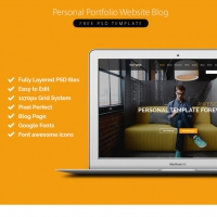 Personal Portfolio Website Blog Free PSD Template
