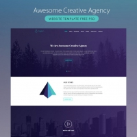 Awesome Creative Agency Website Template Free