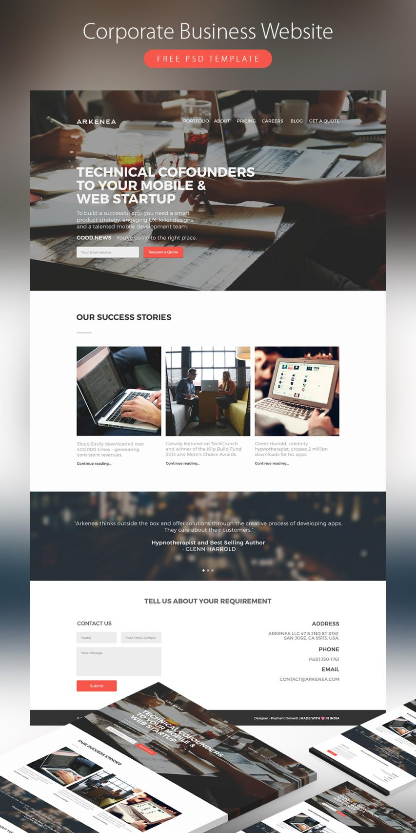 Corporate Business Website Template Free