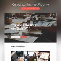 Corporate Business Website Template Free