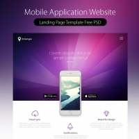 Mobile Application Landing Page Template Free