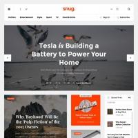 Creative Blog Website Template PSD