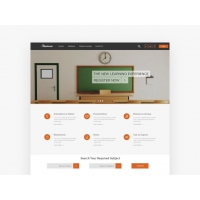 Online Education Website Template Free