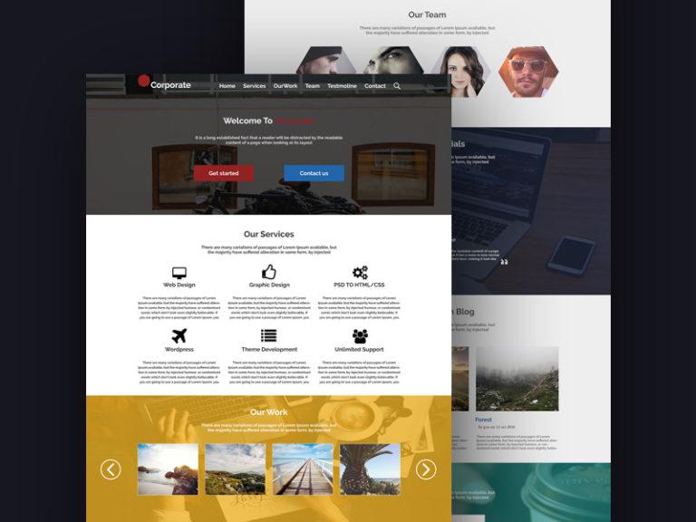 Simplistic Corporate Website Template Free