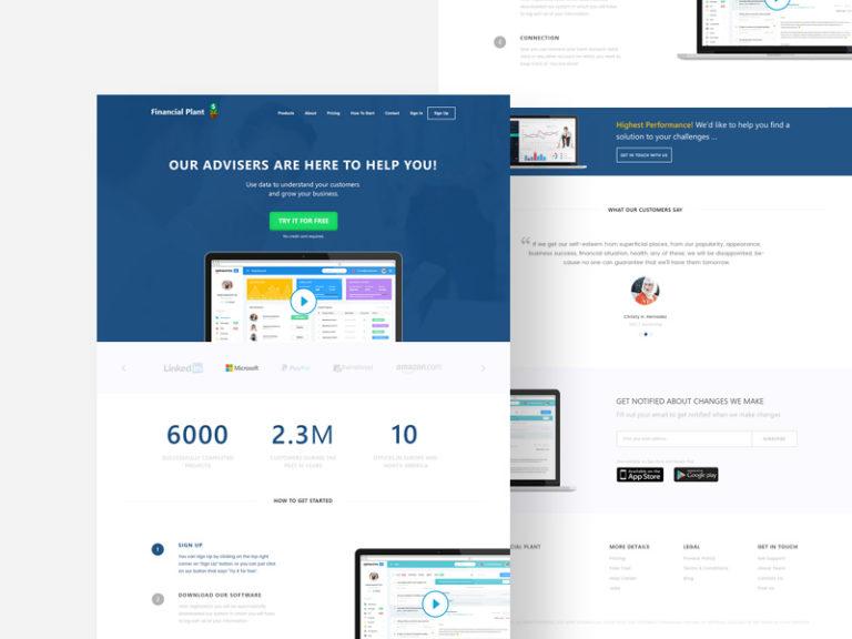 Corporate Finance Website Template Free