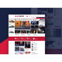News and Magazine Website Template Fre