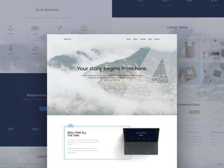 Creative Designer Website Landing Page Template Free